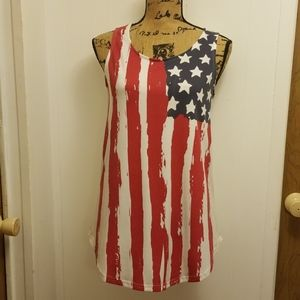 American Flag Stars and Stripes Tank Top